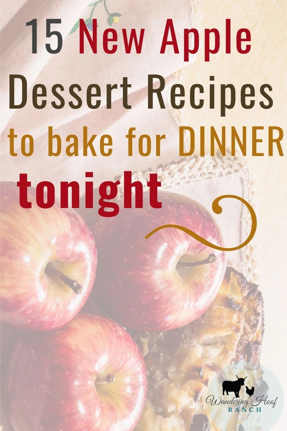 Pin image, 15 new apple dessert recipes to bake for dinner tonight