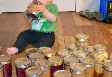 canning jar organization