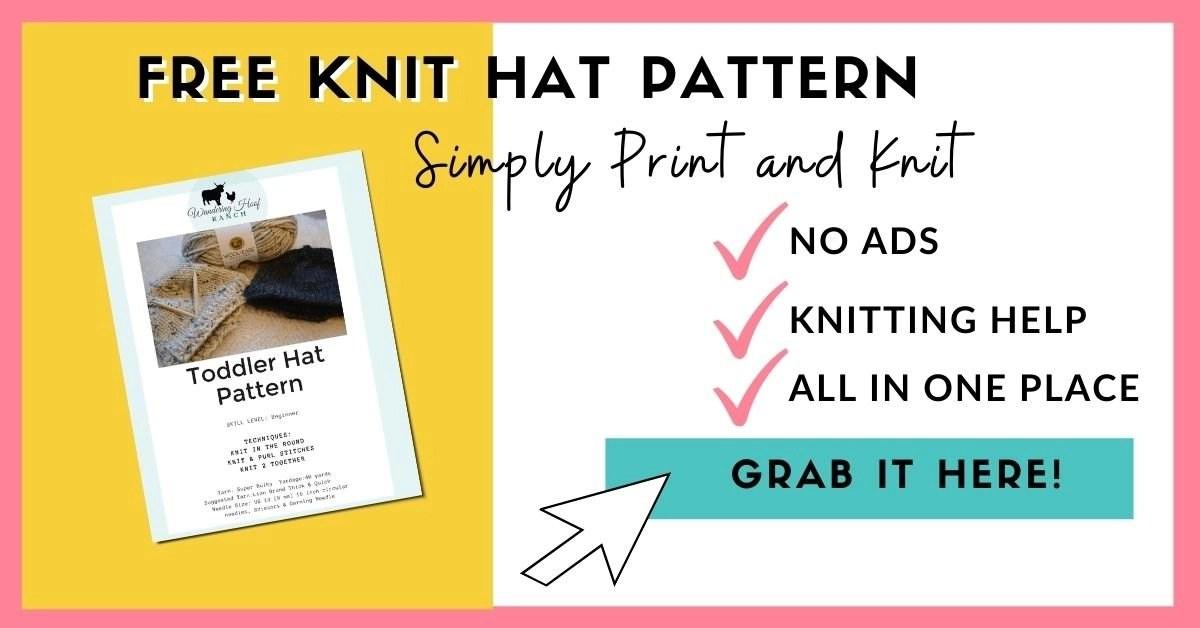free knit hat pattern opt in box
