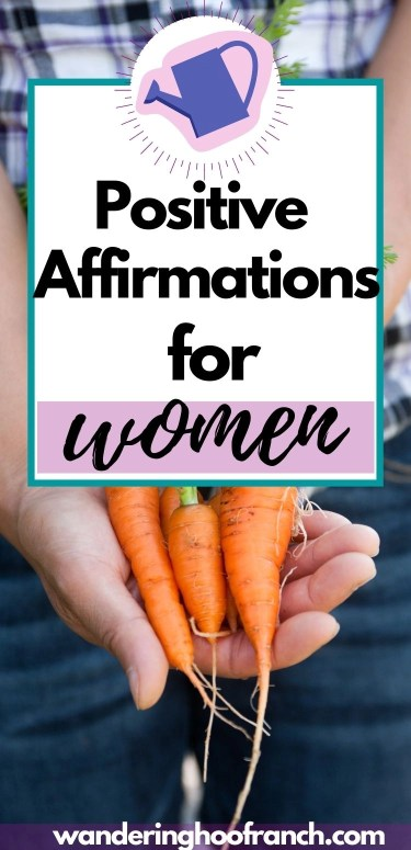 positive affirmations for women pin image