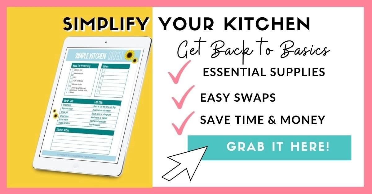 simple kitchen checklist