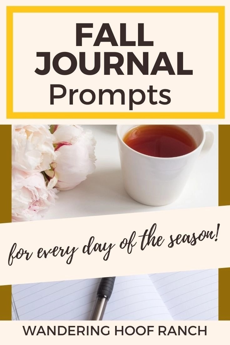 Fall Journal Prompts for every day of the season Pinterest image