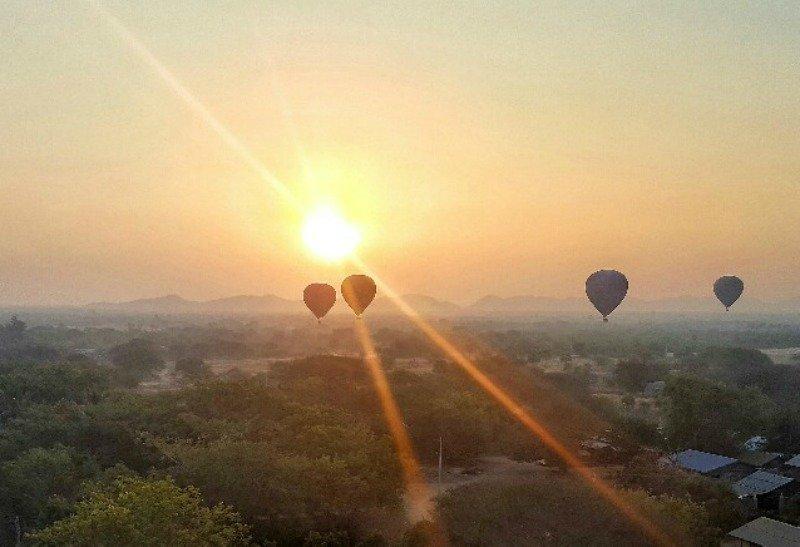 Hot Air Balloon Ride at Sunrise