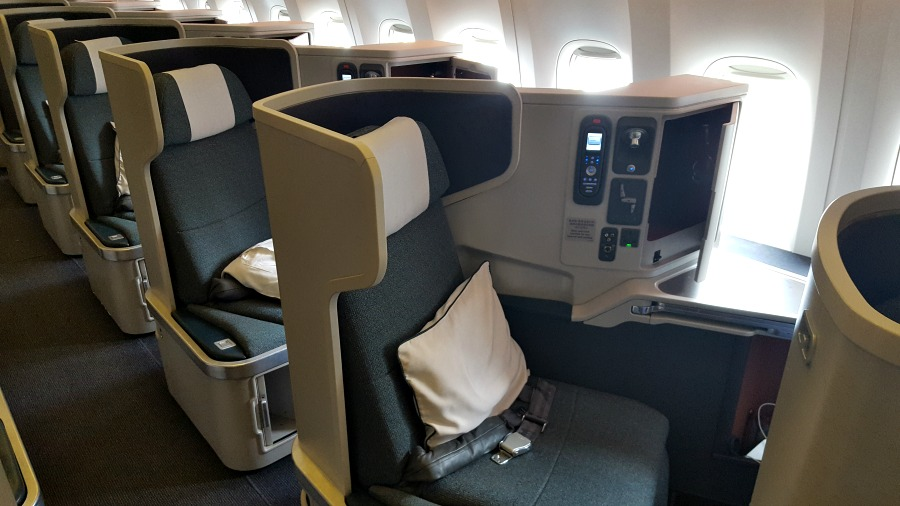 Cathay Pacific First vs BusinessClass