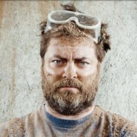 Nick Offerman gives tour of his California woodworking shop