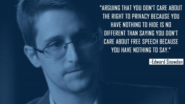 Snowden on privacy