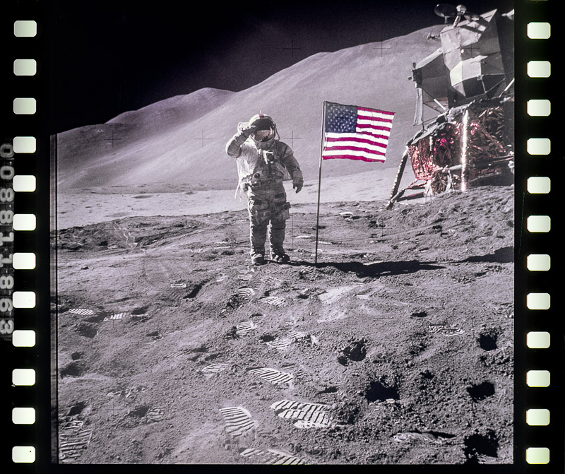 FILM FROM THE APOLLO 15 MOON MISSION