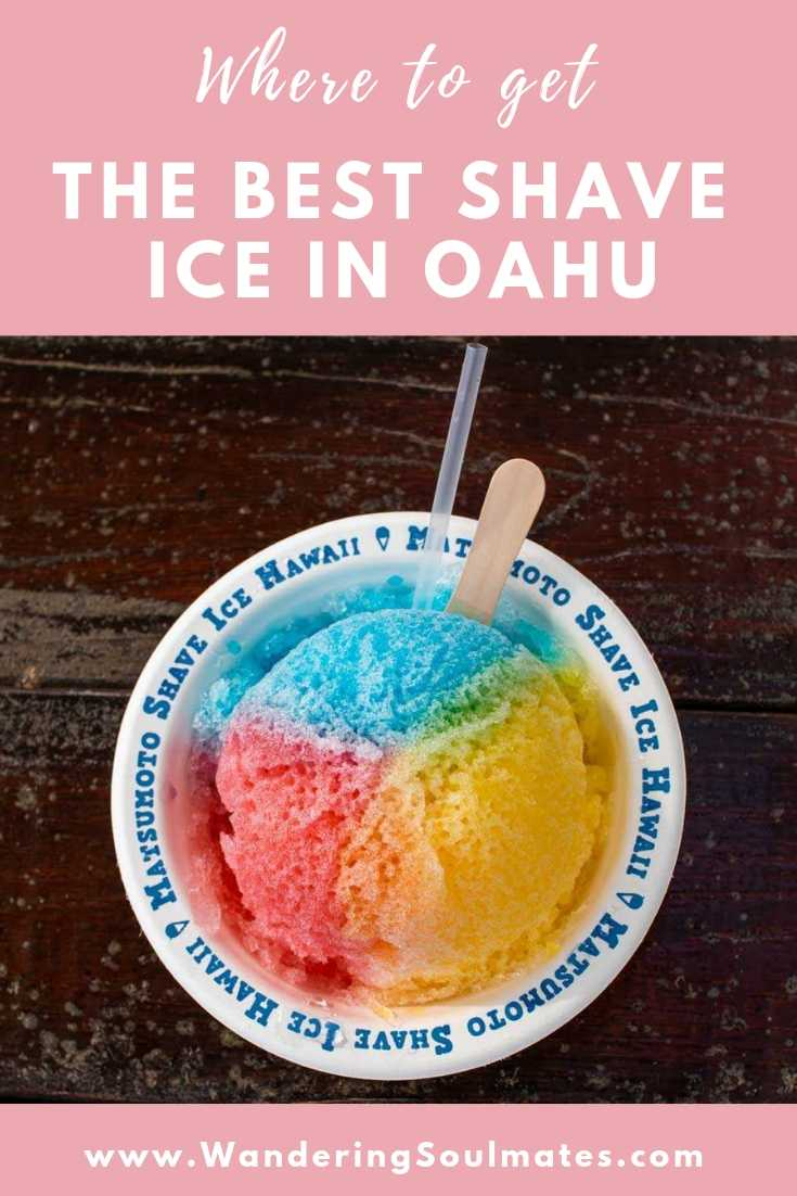 Shaved ice in oahu
