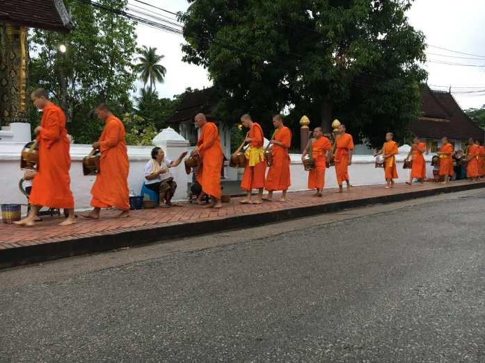 Alms giving in Luang Prabang