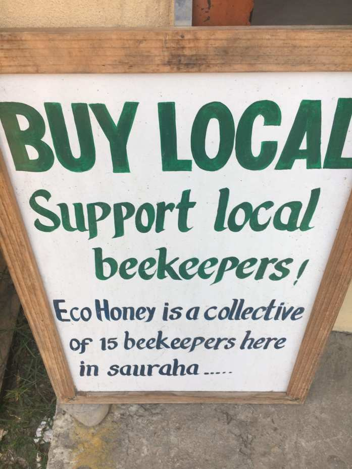 Honey shopping in Sauraha