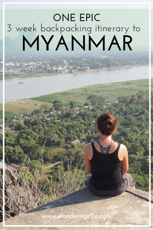 3 week itinerary to Myanmar