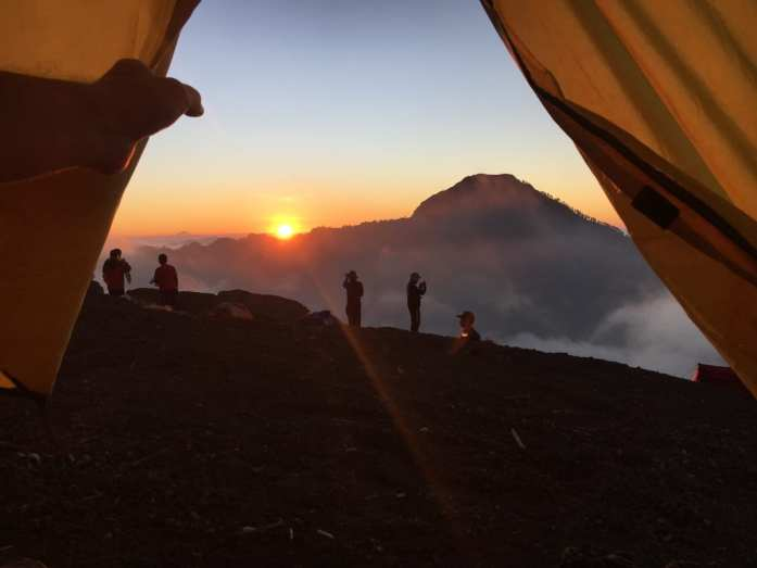 Sunsetting at the crater rim