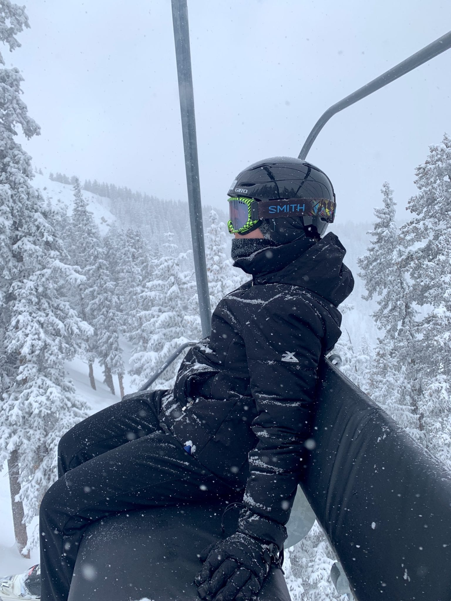 Riding the lifts