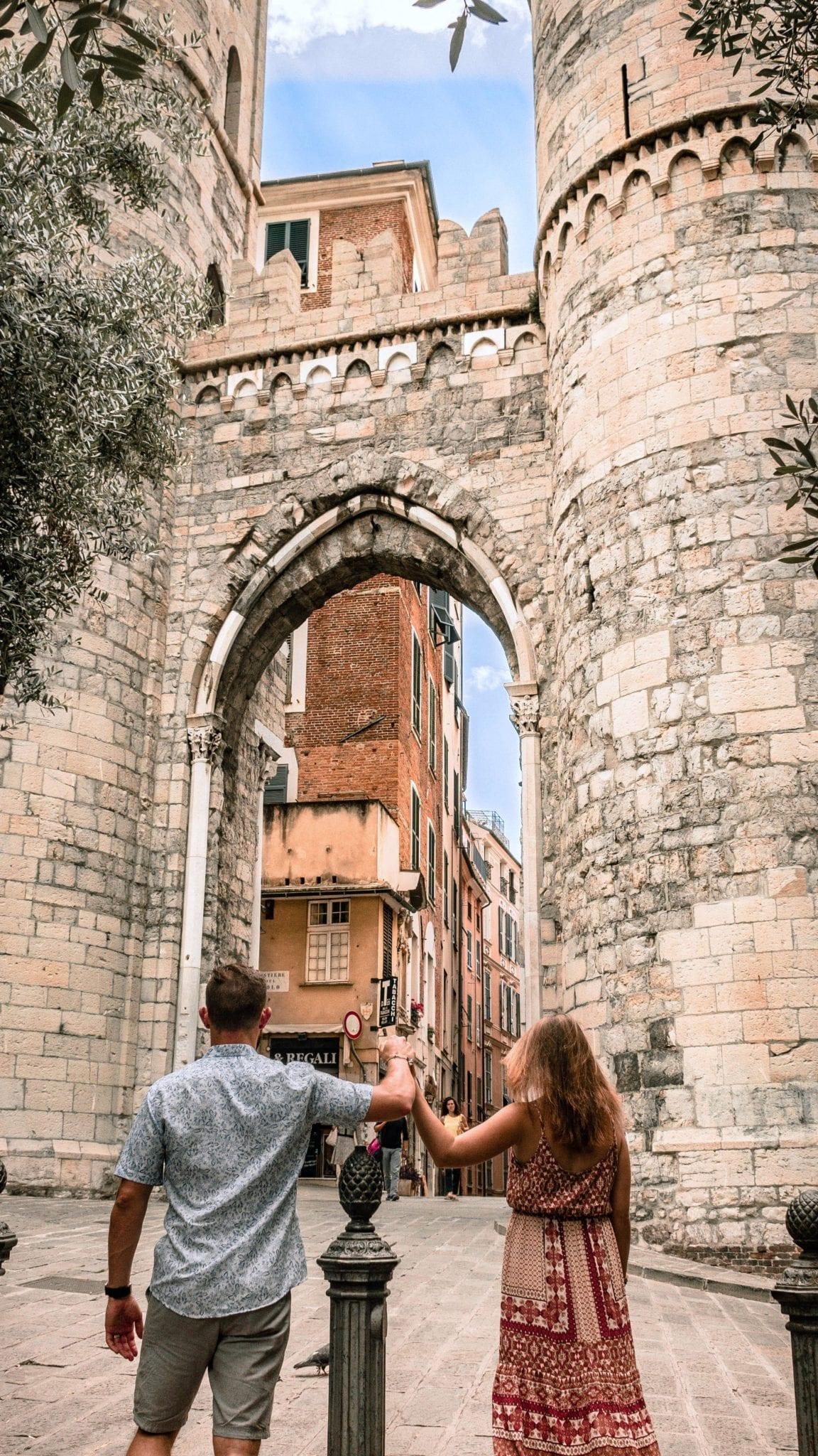 Porta Soprana gatehouse in Genoa