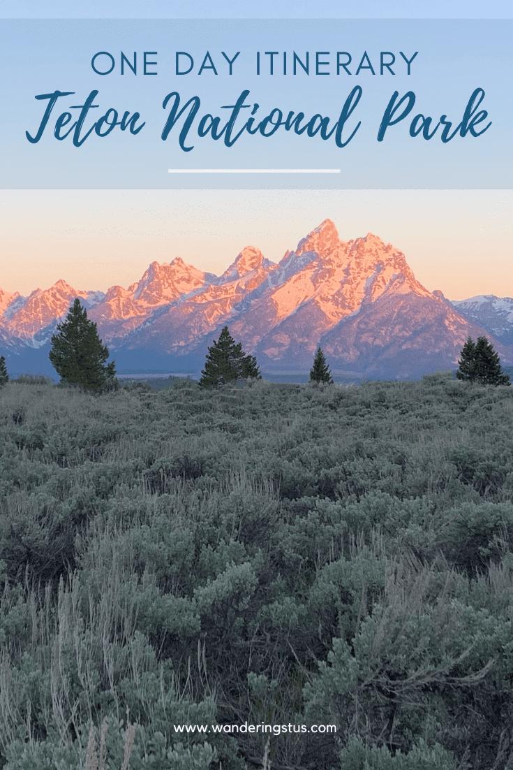 One Day In Grand Teton Pin