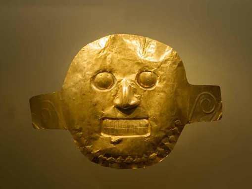 Mask at Gold Museum which is one of the top places you should visit with 48 hours in Bogota.