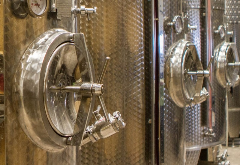 wine distilling vats