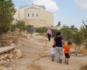 A church stands at the peak of Mount Nebo - Traveling Jordan with Kids