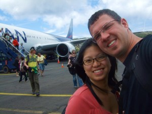 Flying out from Santiago to Easter Island