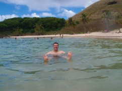 Kevin at Anakena Beach