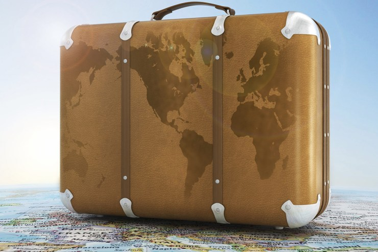 Suitcase on a map - 2015 - a year in travel