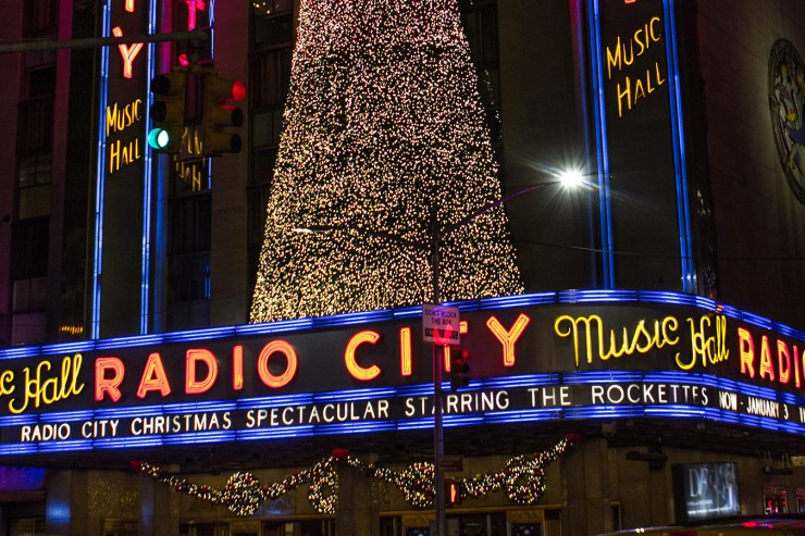 in manhattan christmas is done big