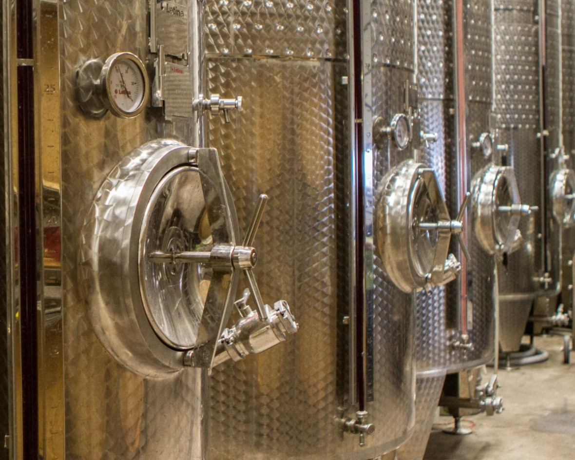Distilling vats at the Pondview Winery in Niagara-on-the-Lake Ontario during the Niagara Icewine Festival
