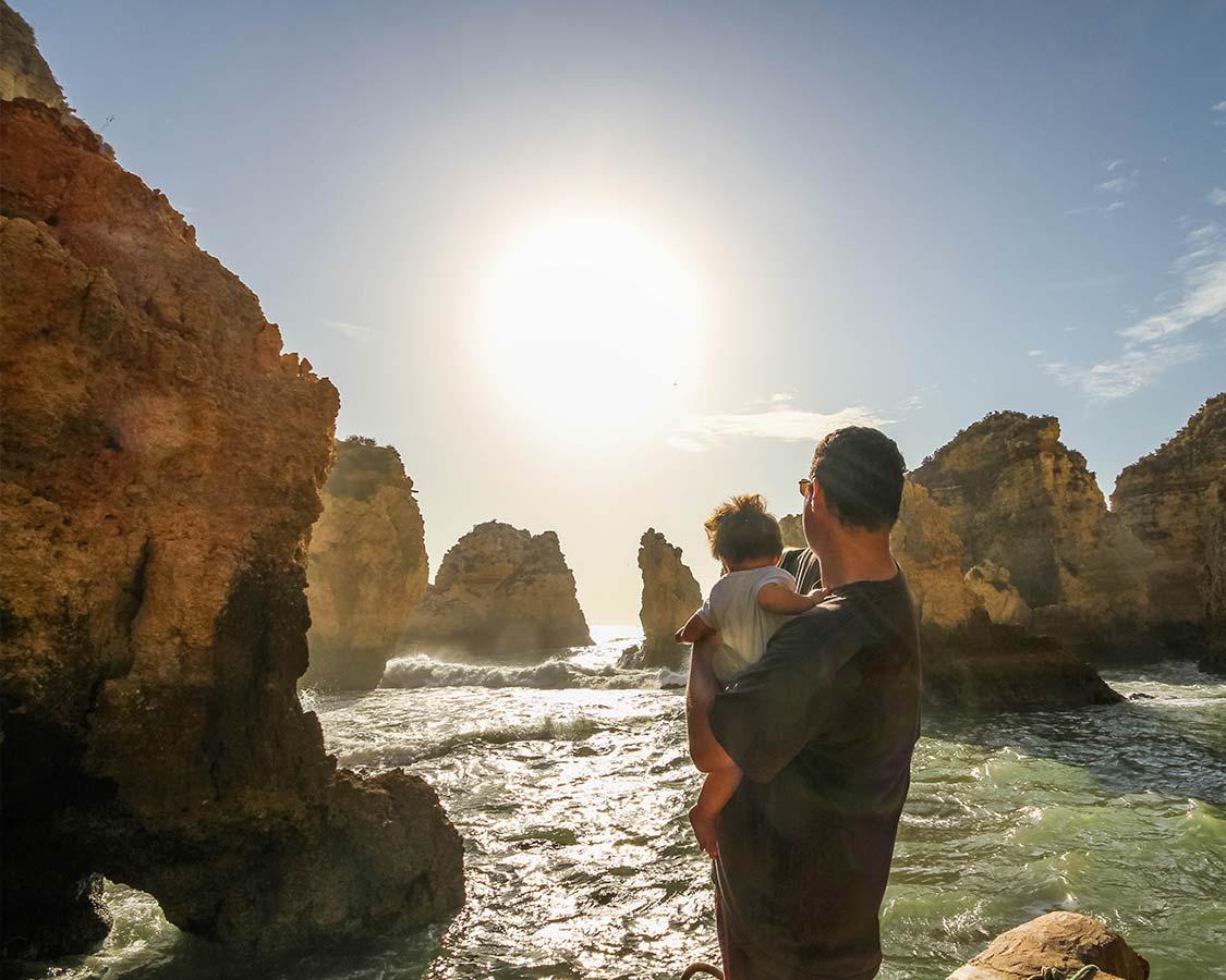 Kevin Wagar explores Algarve Beaches at Praia Dona Ana