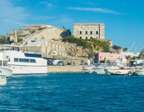 Looking at Bermuda's Royal Navy Dockyards from the water - Boating in Bermuda