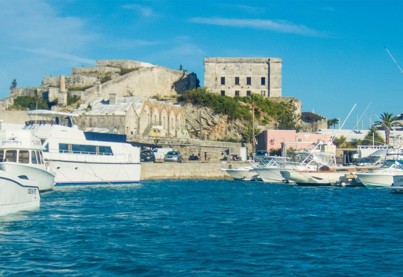 Looking at Bermuda's Royal Navy Dockyards from the water - Boating in Bermuda