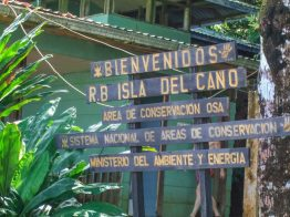 A sign for Isla Del Cano in Costa Rica - finding paradise in the osa peninsula