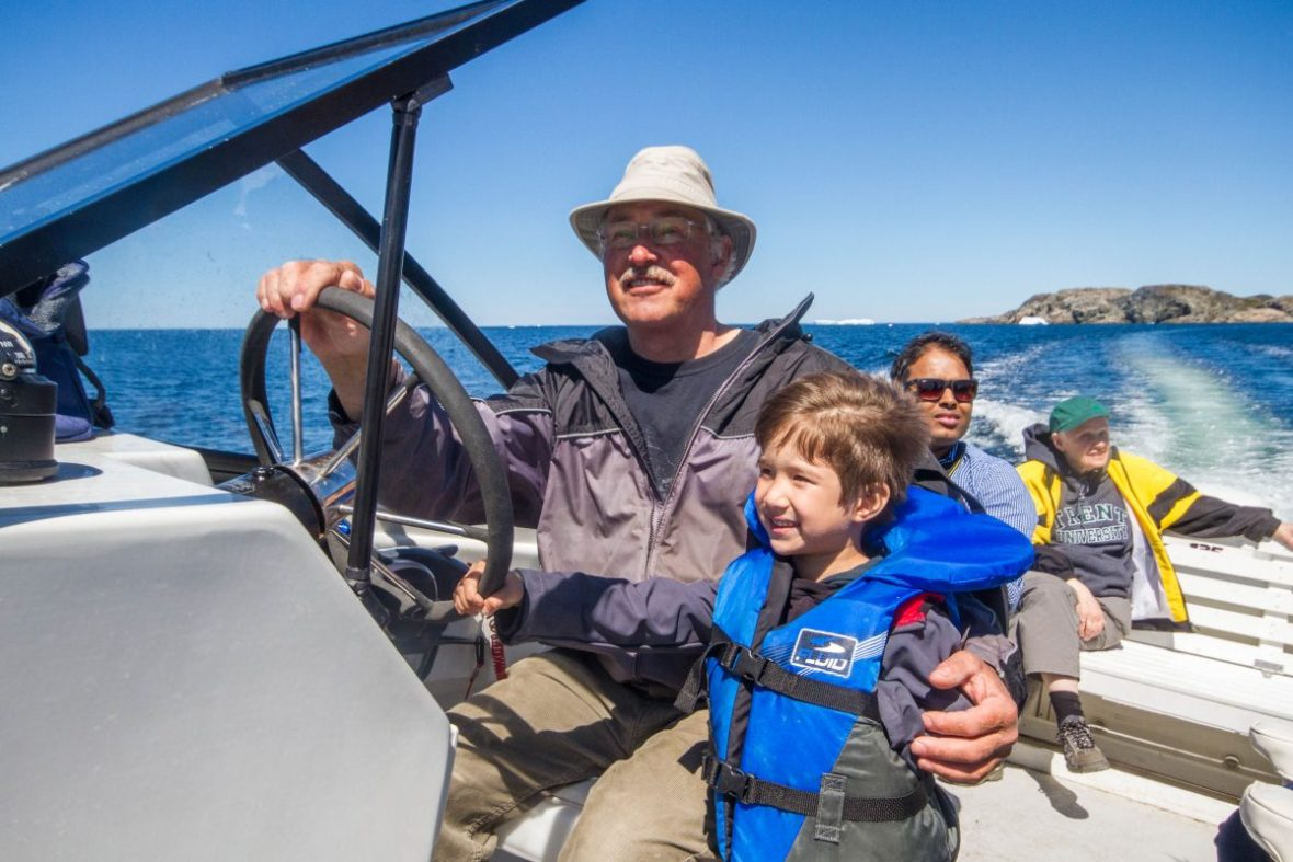 Captain Dave's Boat Tours on a Newfoundland Iceberg Tour