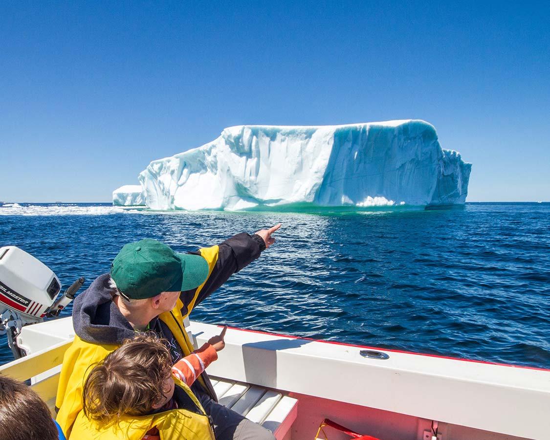 Paula Wagar and her Grandson on Twillingate Iceberg Tours