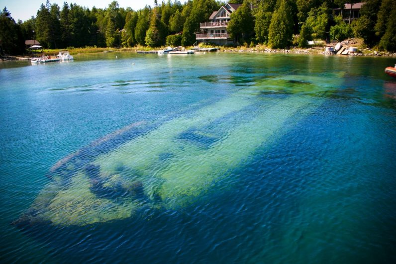 Shipwreck in Tobermory, in the Bruce Peninsula, which is one of our bucket list destinations in Canada.