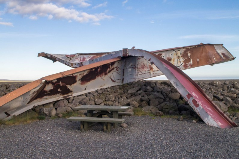 Twisted metal is all that remains of a bridge trapped in an Icelandic avalanche - An Epic 14 Day Iceland Itinerary