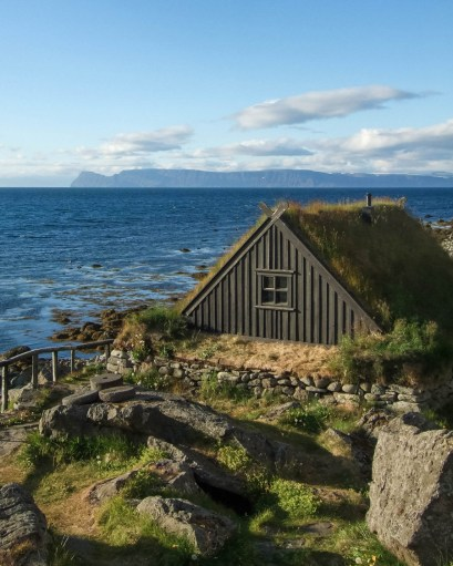 A Viking style fishing hut on the coast of Iceland - An Epic 14 Day Iceland Itinerary