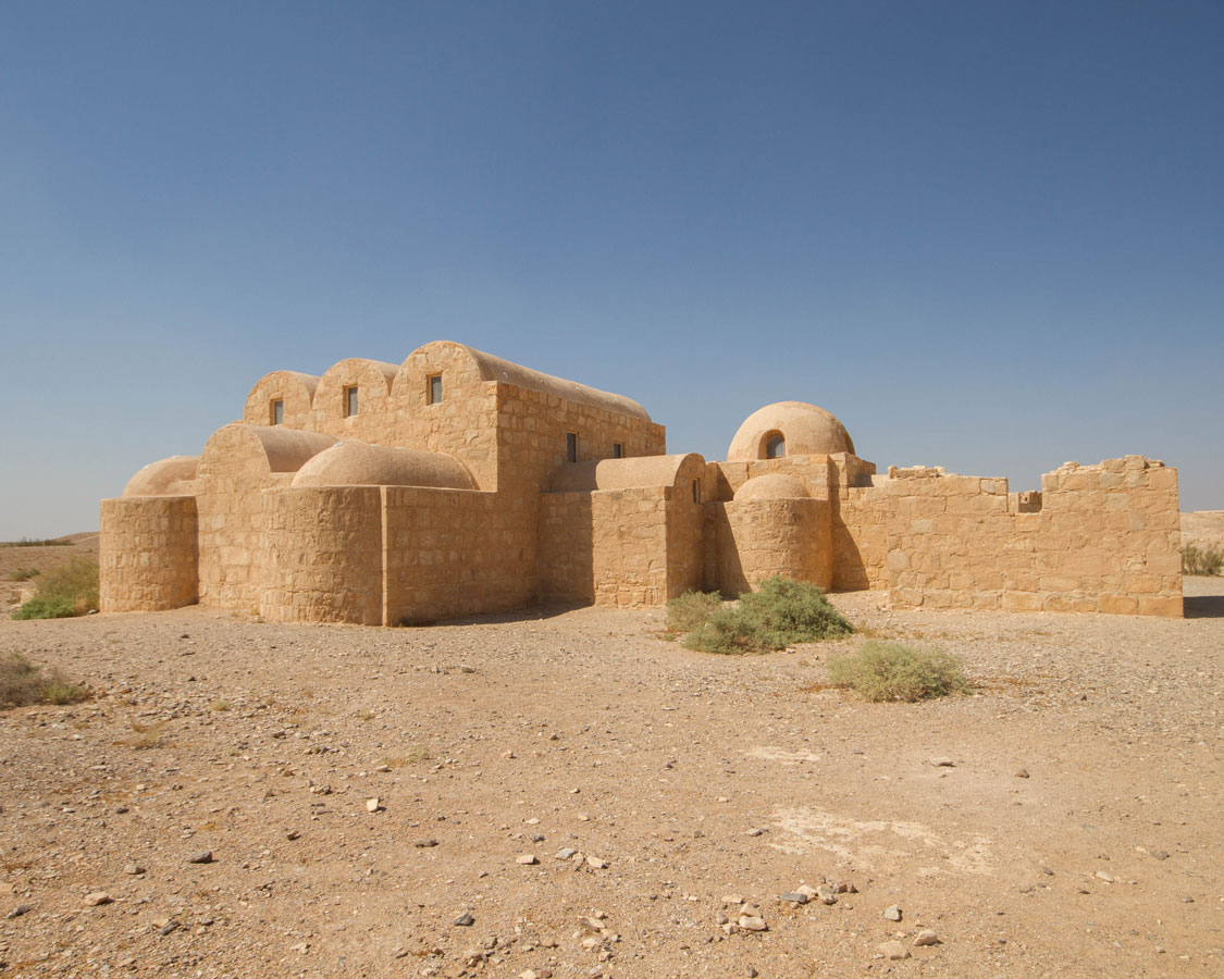 with domed roofs and incredible artwork, Amra Palace may be one of the most important castles in Jordan