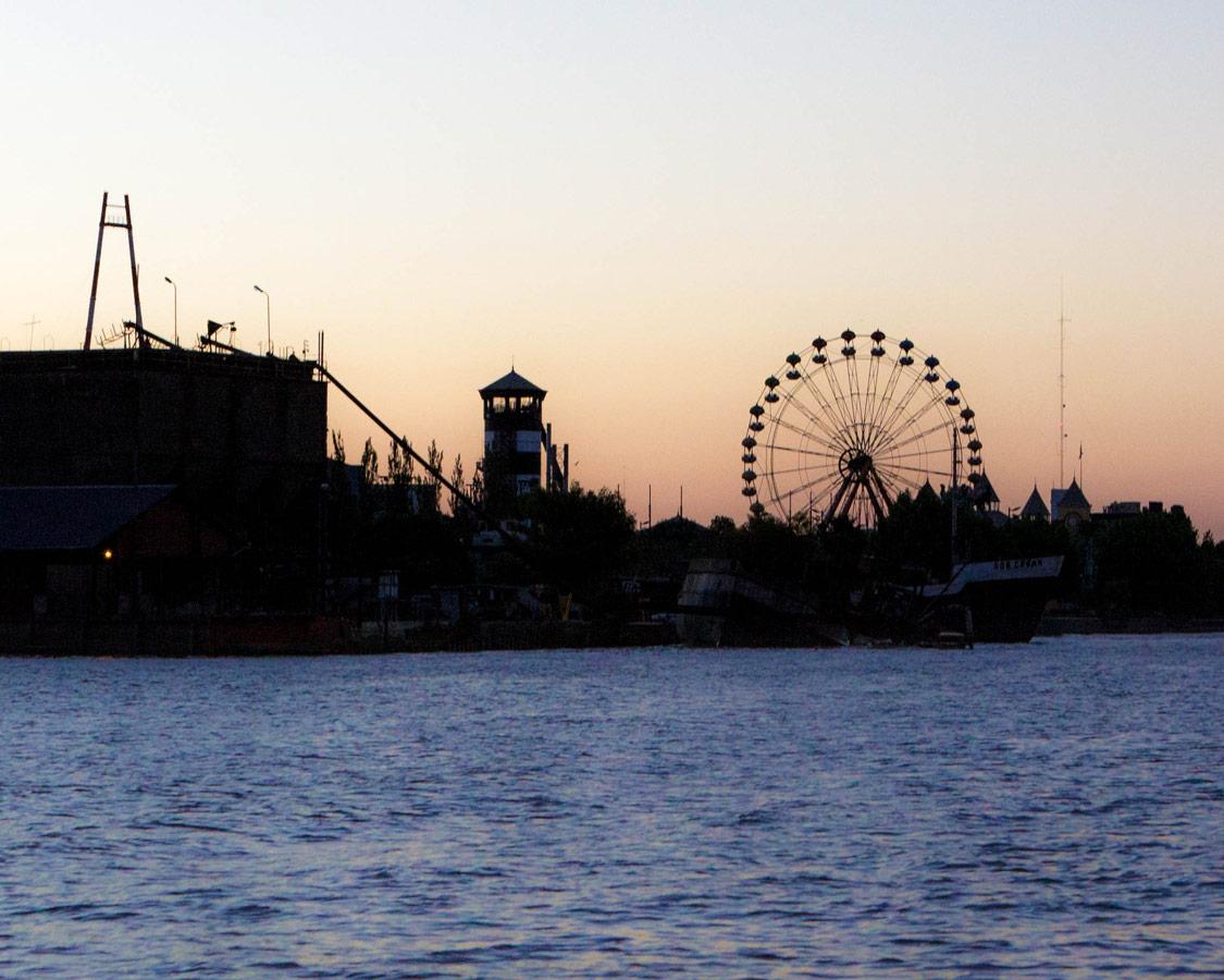 Amusement park along the delta parana in Tigre, Argentina