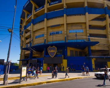 La Bombonera Stadium in La Boca district of Buenos Aires.