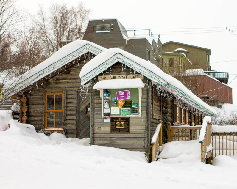 Wildcat Cafe in Old Town Yellowknife in winter