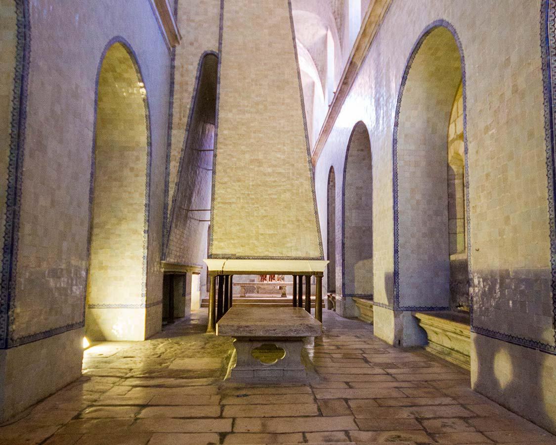 Portugal Alcobaca Monastery Kitchen