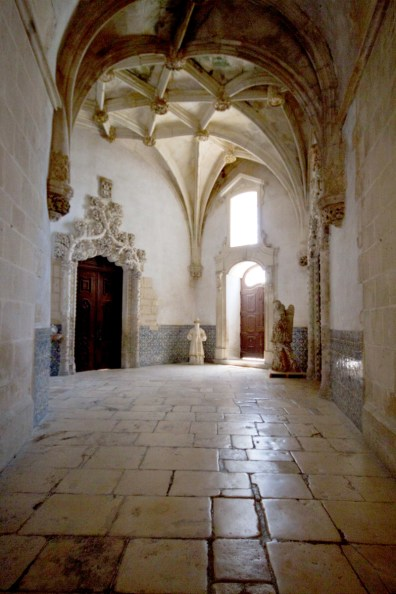 The detailed sacristy entrance at the Monastery of Alcobaca.