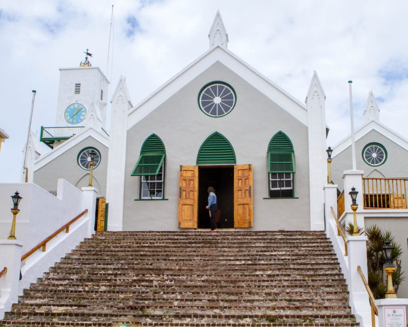 St Peter's Anglican Church in St George Bermuda.