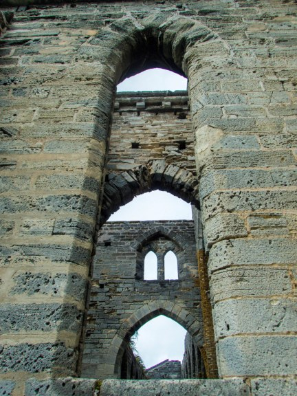 Large windows would have adorned the Unfinished Church in St Bermuda.