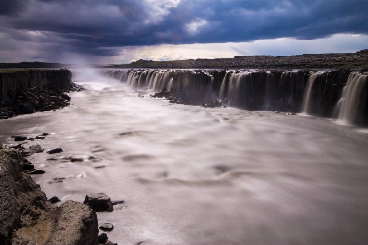 Long exposure of Selfoss waterfall in Iceland