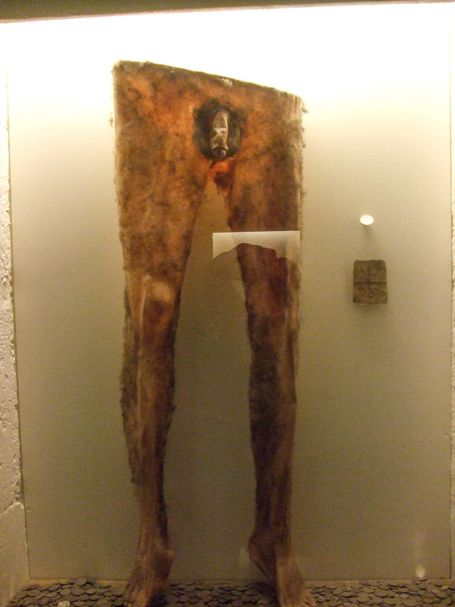 A pair of pants, complete with genitalia at the museum of witchcraft and sorcery in Holmavik, Iceland