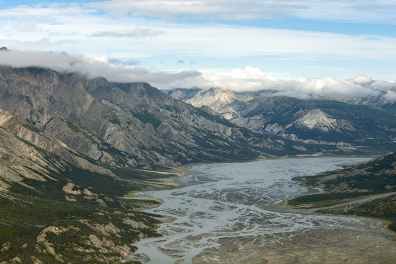 Mountains and rivers of Kluane National Park in the Yukon one of the most amazing places in Canada