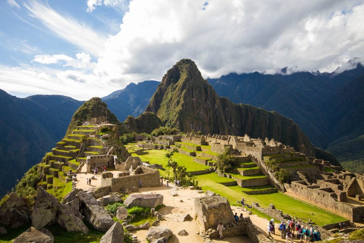 Overlooking Machu Picchu Sanctuary.
