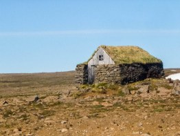 a hiking shelter in the highlands of the Westfjords