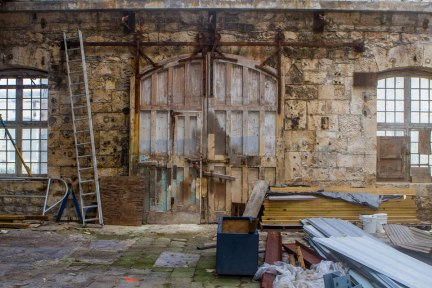 The rustic interior of one of the buildings in the Bermuda Dockyards